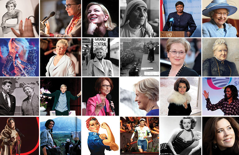 50 of the world's most admired female figures
