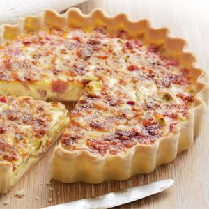 Quick Ham and Cheese Quiche