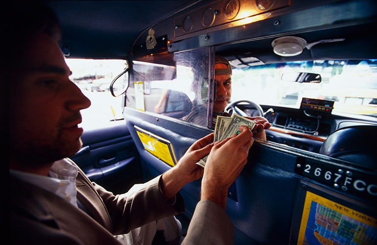 1. The one with the taxi