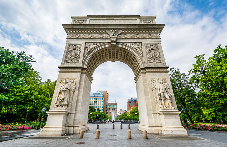The secret room in the arch at Washington Square Park