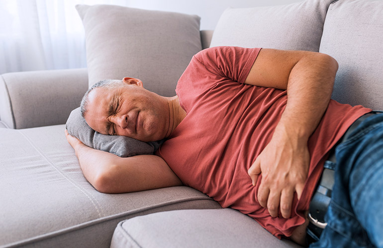 You feel bloated – and it hurts badly