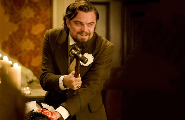 Leonardo DiCaprio really cut his hand in Django Unchained