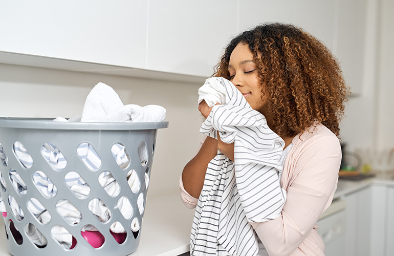The smell and feel of warm laundry