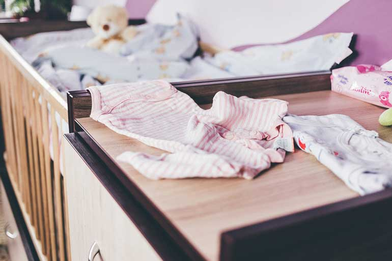 Keeping a changing table clean