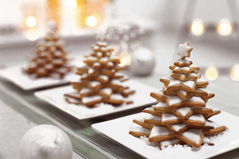 1. Christmas Tree Cookie Stack