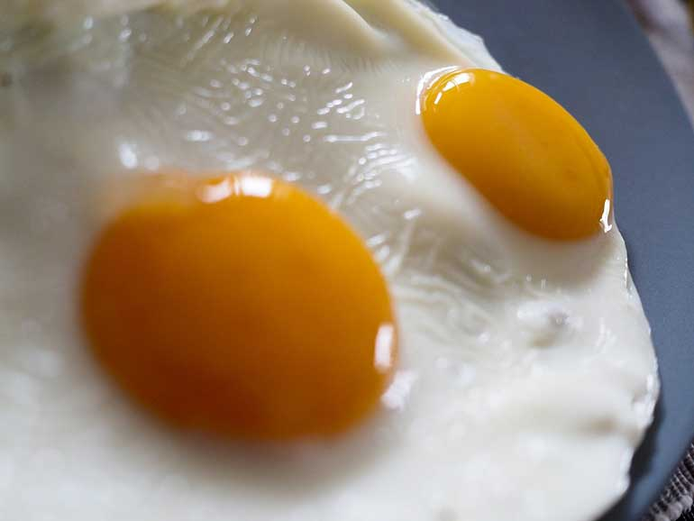 3. Eggs and maple syrup