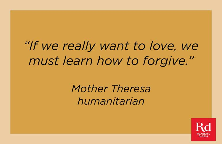 On forgiveness and love