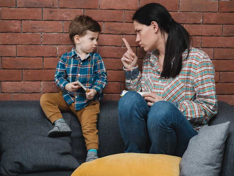 2. Scolding a child with ADHD won't work