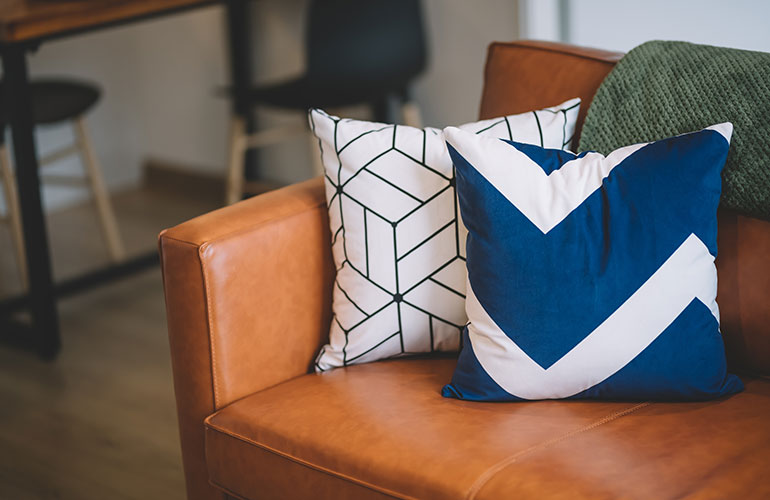 Swap out your throw pillows