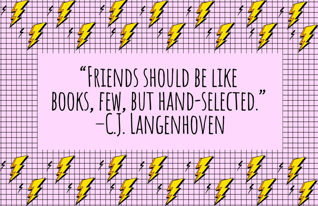 On how friends and books are similar