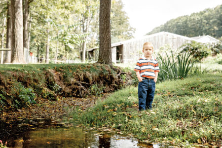 Boy in the stream