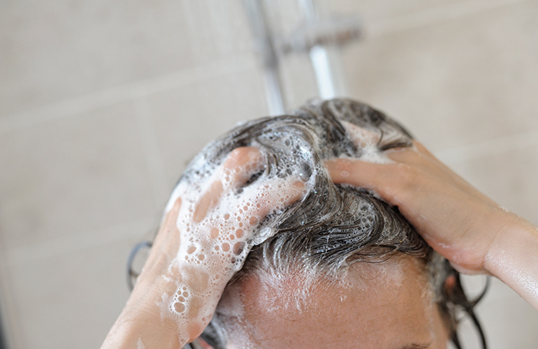 Shampoo less frequently