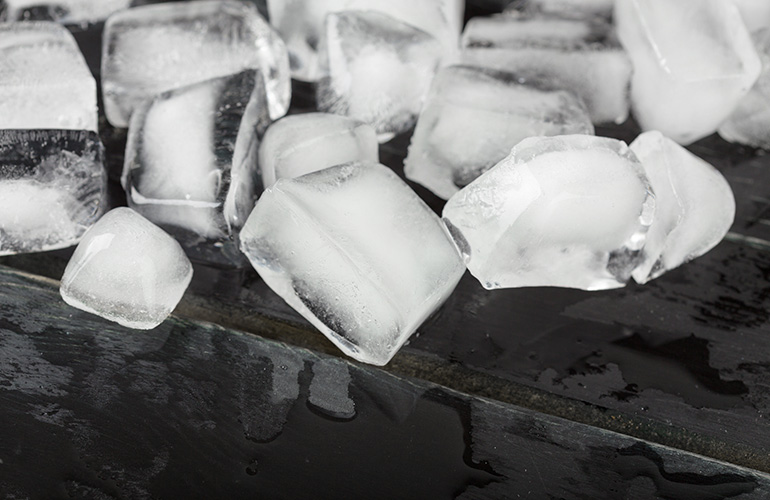 Ice cubes can be bacteria farms